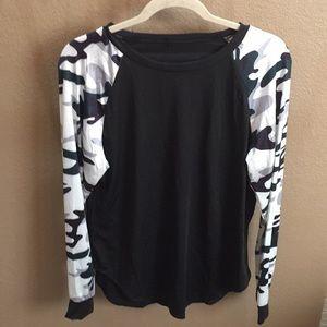 Tops - L/S silky material T-shirt. NWOT xxl
